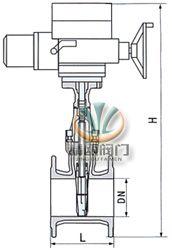 电动弹性座封闸阀 (尺寸图)